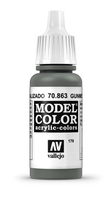 Vallejo Model Colour Gunmetal Grey 17ml