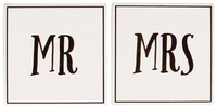 Mr & Mrs - Coaster Set (2 Pc)