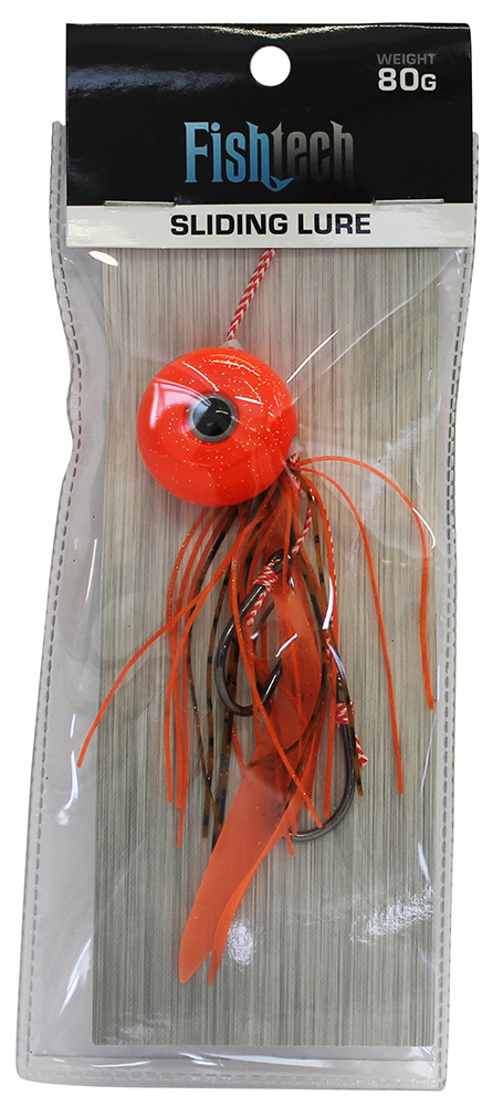 Fishtech 80g Slippery Slider Lure - Orange image