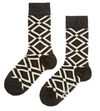 Jonathan Adler Diamonds Women's Socks - Brown