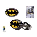 Batman Logo Enamel Oval Ear Studs