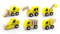 VIGA Wooden Toys - Construction Vehicles Set