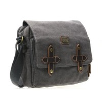 Troop London: Heritage Canvas Small Satchel - Black