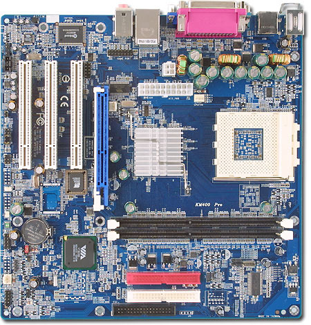Albatron Motherboard KM400 PRO SKT462 A VGA+SND+LAN