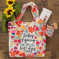 Natural Life: Fold-up Shopping Bag - Best Day