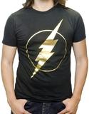Flash - Gold Foil Logo T-Shirt (XL)