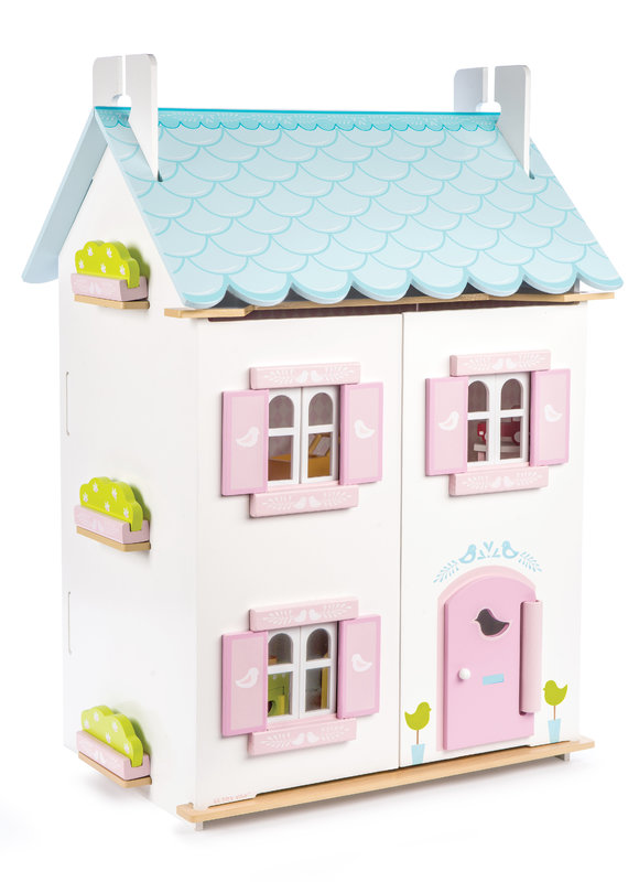 Le Toy Van: Blue Bird Cottage - with Furniture