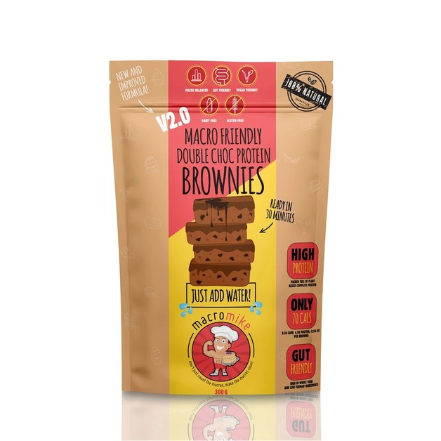 Macro Mike Baking Mix Brownies - Double Chocolate Fudge V2 (300g)