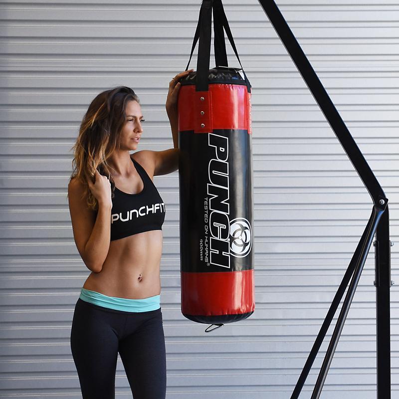 Punch: Urban Boxing Bag - 90 x 30cm (Black/Red) image