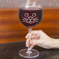 BigMouth Inc: Purrfect Wine Glass - Novelty Wine Glass