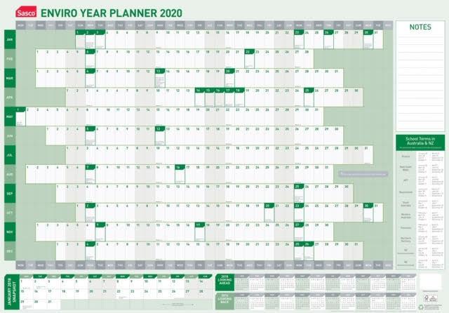 Sasco: 2020 Enviro Laminated Year Planner image