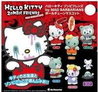 Hello Kitty Zombie Friends Keyring Mascot - by Mad Barbarians (assorted)