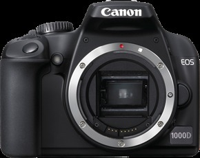 Canon EOS 1000D 10MP Digital SLR Camera - Body Only