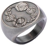 Doctor Who Masters Saxon Signet Finger Ring (Size 8)