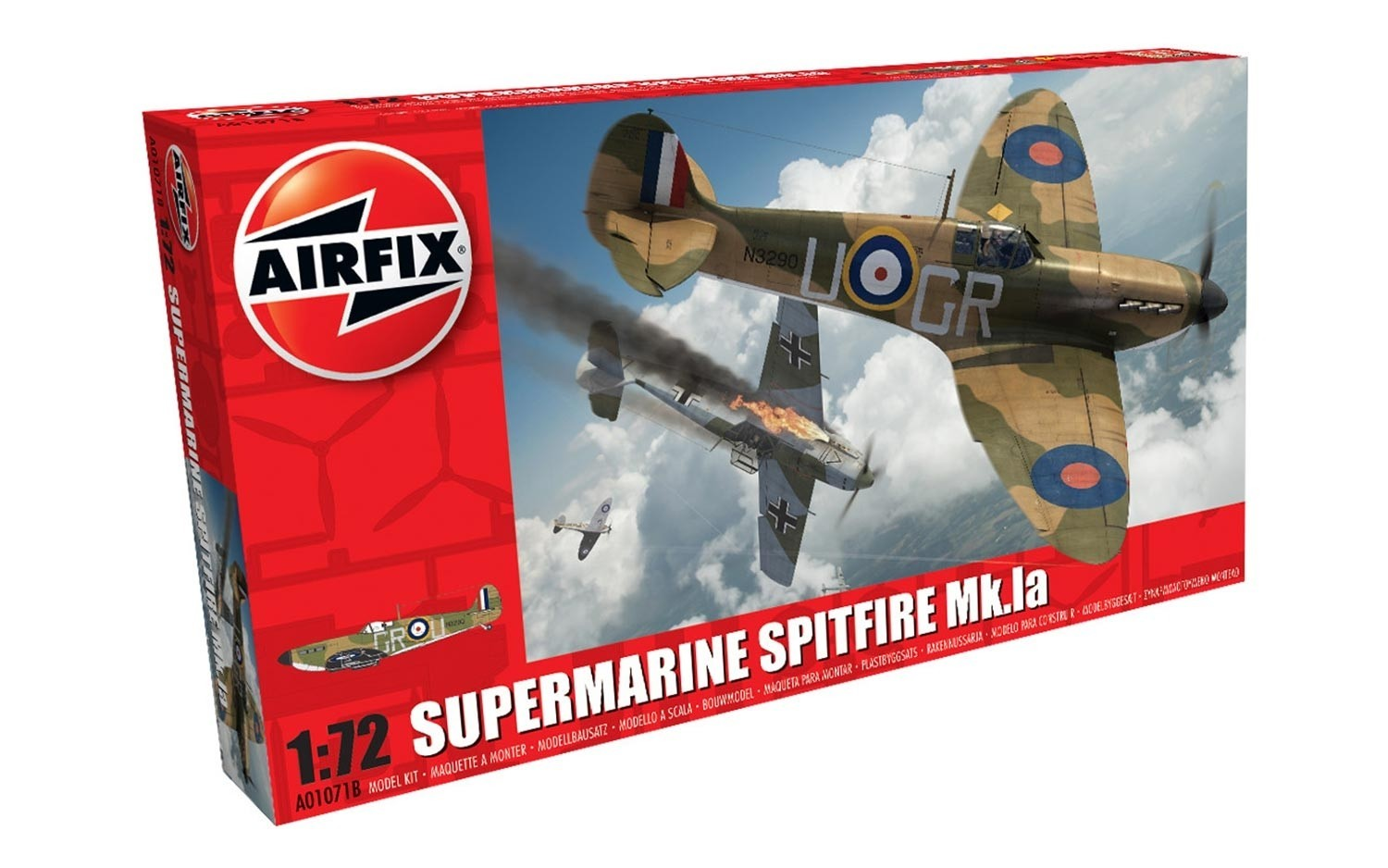 Airfix 1:72 Supermarine Spitfire Mk.Ia Scale Model Kit image
