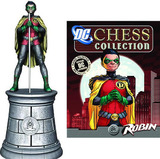 Batman Chess Set Figure Collection #003 - Robin White Bishop (with Magazine)