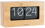 Karlsson: Table Clock (Flip) - Boxed Bamboo