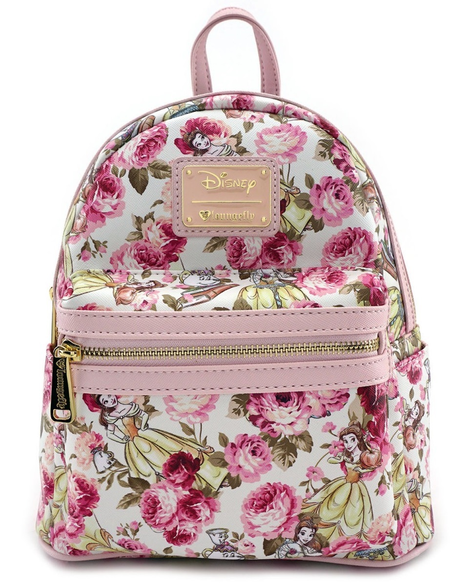 Loungefly  Disney Beauty and the Beast - Floral Mini Backpack image ... f82cce0b43515