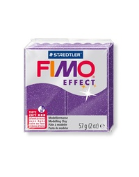 Staedtler Fimo Effect Modelling Clay Block - Lilac Glitter (56g)