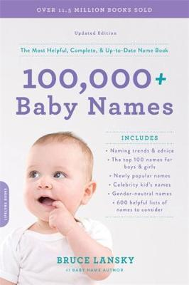 100,000 + Baby Names (Revised) by Bruce Lansky