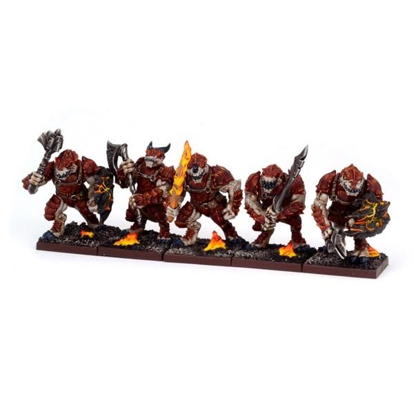 Kings of War Forces of Nature Salamander Regiment