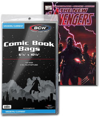 """BCW: Comic Book Bags - Current (6.87"""" x 10.5"""")"""