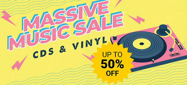 Massive Music Sale! Save up to 50% off CDs & Vinyl!