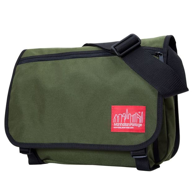 Manhattan Portage: Europa With Back Zipper and Compartments - Olive (Medium)