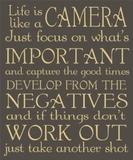 Life is like a Camera Shelf Plaque