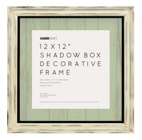 Kaisercraft: 12 x 12 Distressed Shadow Box Frame - Antique White