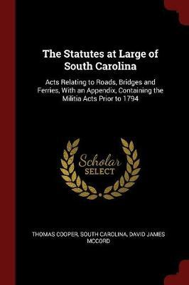 The Statutes at Large of South Carolina by Thomas Cooper image