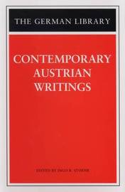 Contemporary Austrian Writings by Ingo Roland Stoehr image