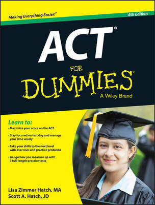 ACT For Dummies by Lisa Zimmer Hatch image