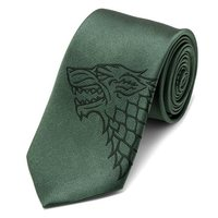 Game of Thrones Stark Direwolf Green Men's Tie