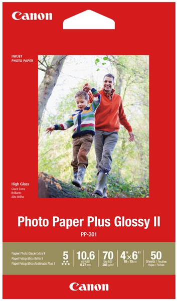 Canon PP-301 4x6 Glossy II 275gsm Photo Paper (50 Sheets)