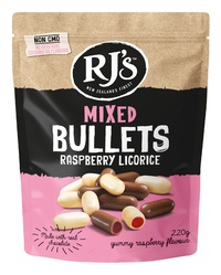 RJ's Mixed Raspberry Bullets (220g)