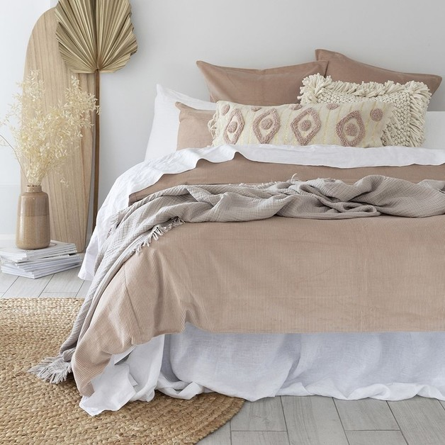 Bambury: Sloane Quilt Cover - Shell (Queen)