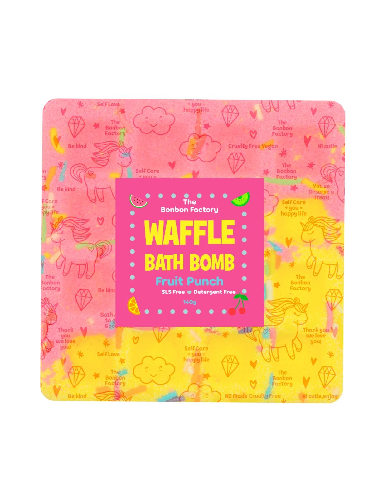 The Bonbon Factory Fruit Punch Waffle Bath Bomb image