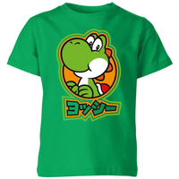Nintendo Super Mario Yoshi Kanji Kids' T-Shirt - Kelly Green - 9-10 Years image