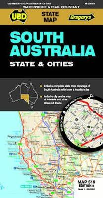 Ubd Gregorys South Australia State & Cities Map 519 8th Ed by Ubd image