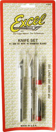Excel Hobby Knife Set with 10 Asstd Blades (12pc)