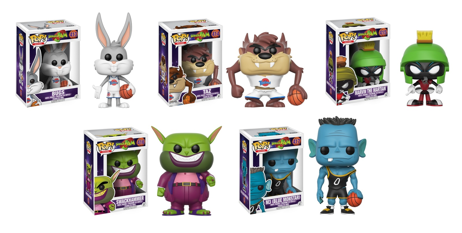 1a7b2761407 Space Jam - Pop! Vinyl Bundle (with a chance for a Chase version!