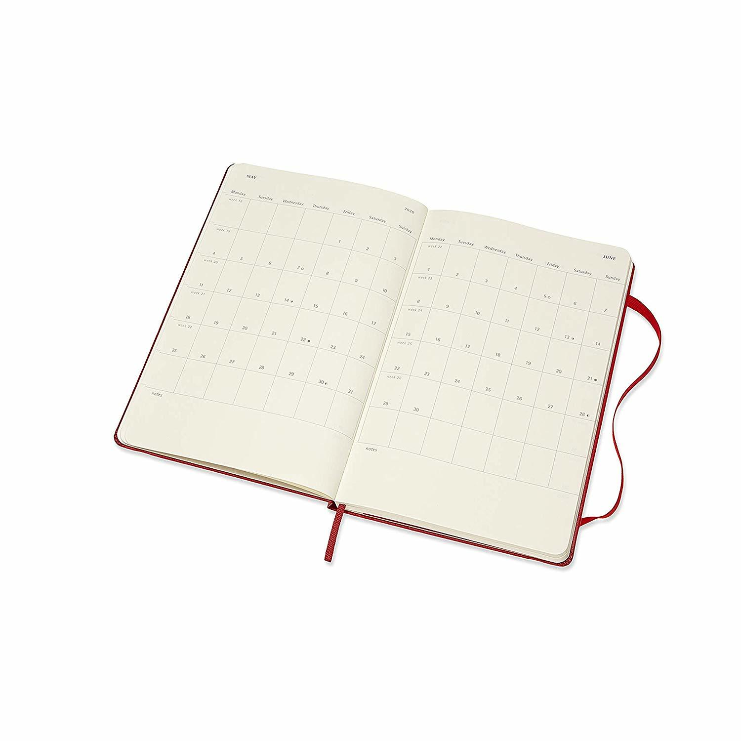 Moleskine: 2020 Diary Large Hard Cover 12 Month Weekly - Scarlet Red image