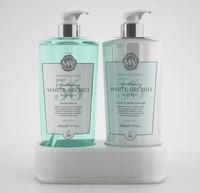 M&Y Hand Wash & Body Caddy - White Orchid (2x500ml)