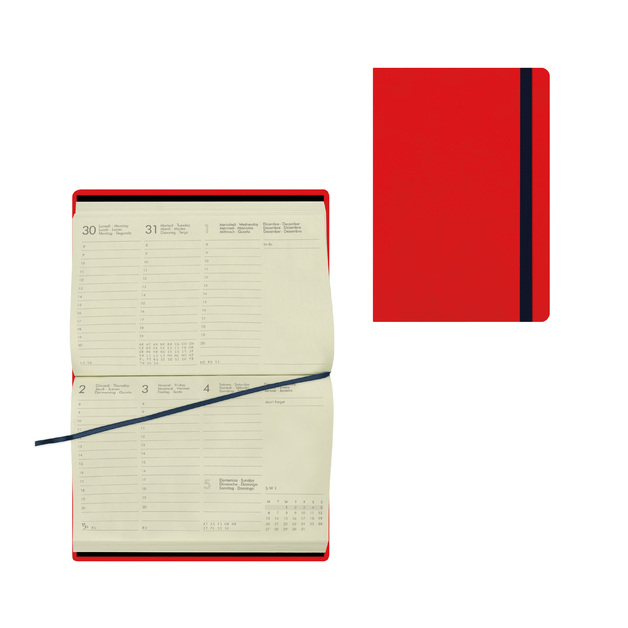 Legami: Small Weekly 12 Month 2021 Diary - Red (9.5 x 13.5cm)