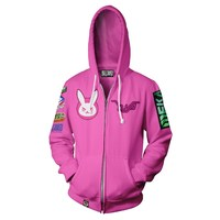 Overwatch Ultimate D.Va Zip-Up Hoodie (XXX-Large)