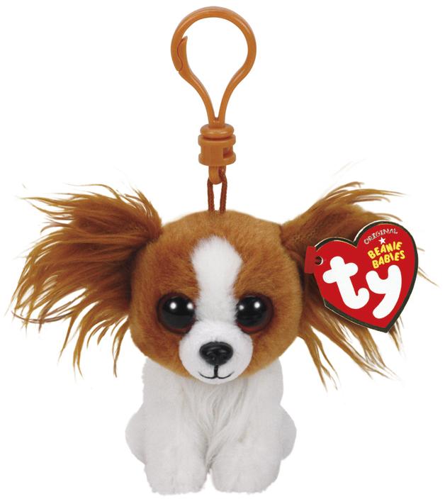 Ty Beanie Babies: Barks Dog - Clip On Plush