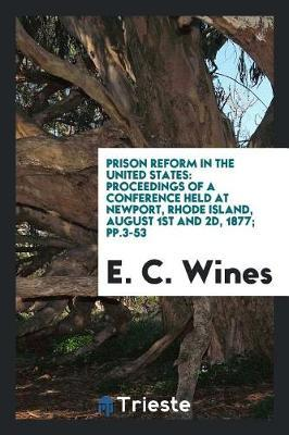 Prison Reform in the United States by E C Wines image