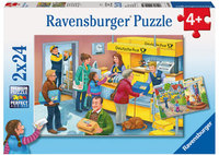 Ravensburger - The Busy Post Office Puzzle (2x24pc)