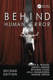 Behind Human Error by David D Woods